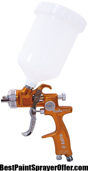 Astro EVOT13 EuroPro Forged LVLP Spray Gun with 1.3mm Nozzle and Plastic Cup