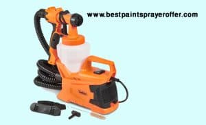 VonHaus 6.5Amp Electric HVLP Spray Gun Power Paint Sprayer with 3 Adjustable Spray Patterns